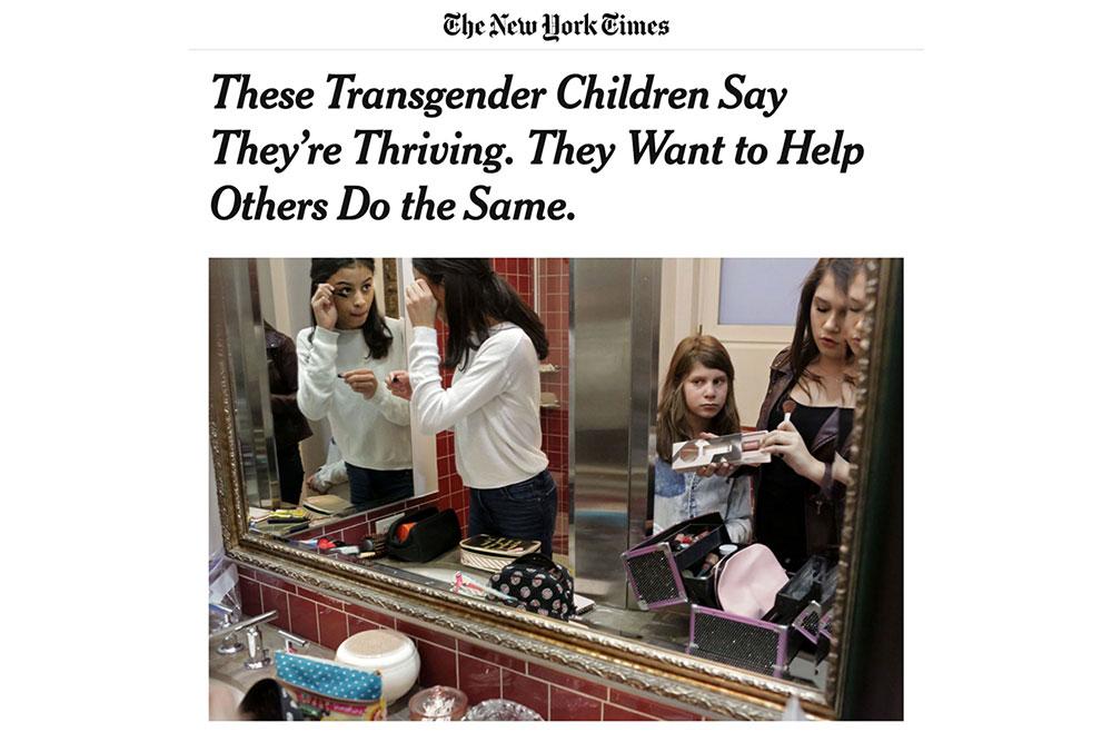 NYT Article Transgender Children
