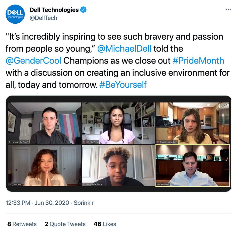 Michael Dell GenderCool Tweet