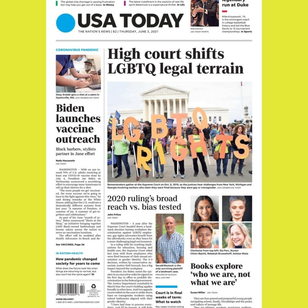 USA TODAY Front Page