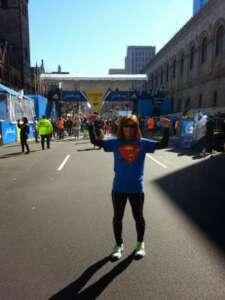 Jennifer at the Marathon